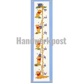 borduurpakket winnie de pooh, groeimeter/meetlat honing
