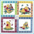 borduurpakket winnie de pooh, vier seizoenen