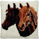 kruissteekkussen paardenhoofden