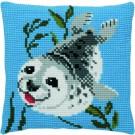 kruissteekkussen zeehond