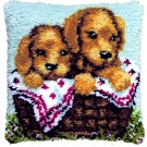 knoopkussen golden retriever pups in mand (excl. knoophaak)