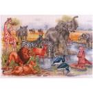 borduurpakket wilde dieren, waterbron