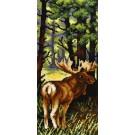 kruissteekwandkleed vier seizoenen, lente met eland