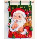 kruissteekwandkleed kerstman fluistert…