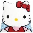 kruissteekkussen hello kitty (incl. kussenrug)