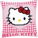 kruissteekkussen hello kitty, ik hou van jou
