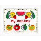 """borduurpakket """"mijn keuken"""""""