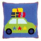 kruissteekkussen lief!, op vakantie met de auto (incl. kussenrug)