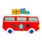 kruissteekkussen lief!, op vakantie met de bus (incl. kussenrug)