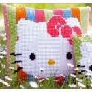 kruissteekkussen hello kitty, pastelstripes