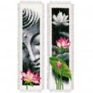 borduurpakket boekenlegger (2 st.) boedha en lotusbloemen