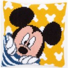 kruissteekkussen mickey mouse, mickey kiekeboe