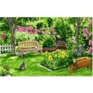 stramien + garenpakket, zomertuin