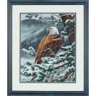 borduurpakket adelaar in wintersfeer
