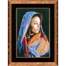 borduurpakket afrikaanse dame
