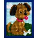 kruissteekwandkleed puppy