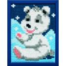 kruissteekwandkleed ijsbeertje