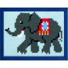 kruissteekwandkleed olifant