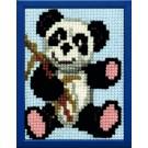kruissteekwandkleed panda