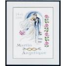 borduurpakket huwelijk martin-angelique