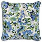 halve kruissteekkussen paisley bloemen in blauw