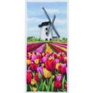 borduurpakket hollandse tulpenvelden met molen
