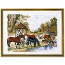 borduurpakket etenstijd voor de paarden